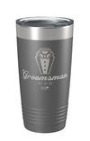 Laser Engraved Wedding (Men) Groomsman Laser Etched Tumbler