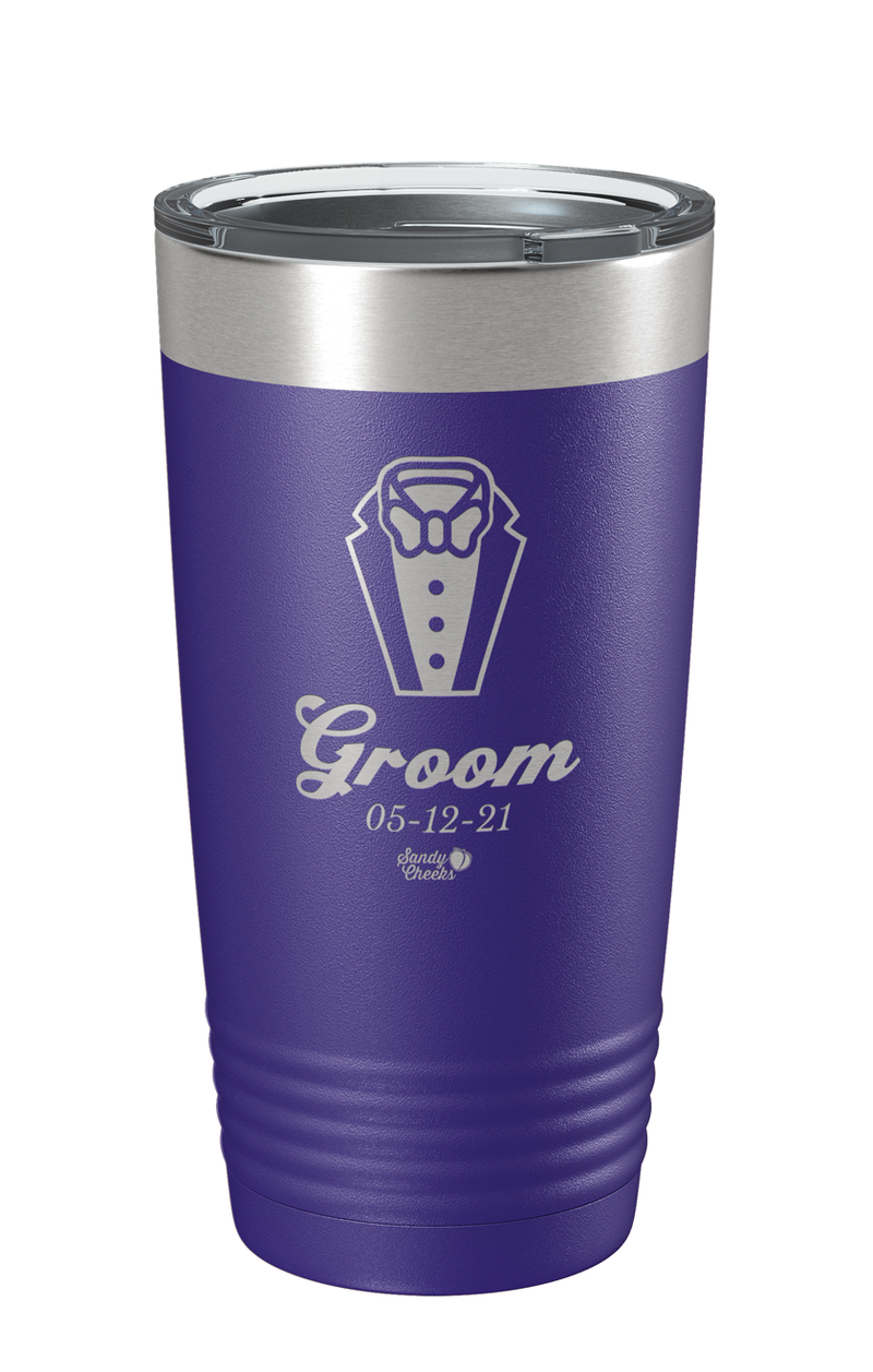 Laser Engraved Wedding (Men) Groom Laser Etched Tumbler
