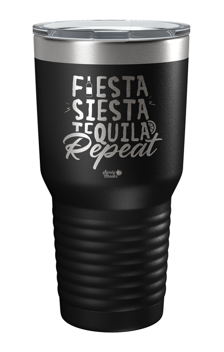 Fiesta, Siesta, Tequila, Repeat Laser Etched Tumbler