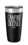 Camping and Cocktails Laser Etched Tumbler