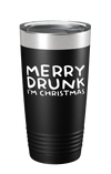 Merry Drunk I'm Christmas Color Printed Tumbler