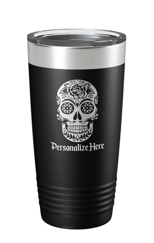 Personalized Calavera Skull Tumbler - Limited Edition