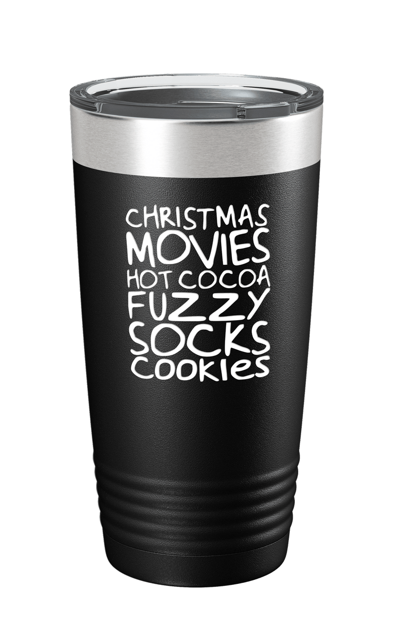 Christmas Movies, Hot Cocoa Color Printed Tumbler