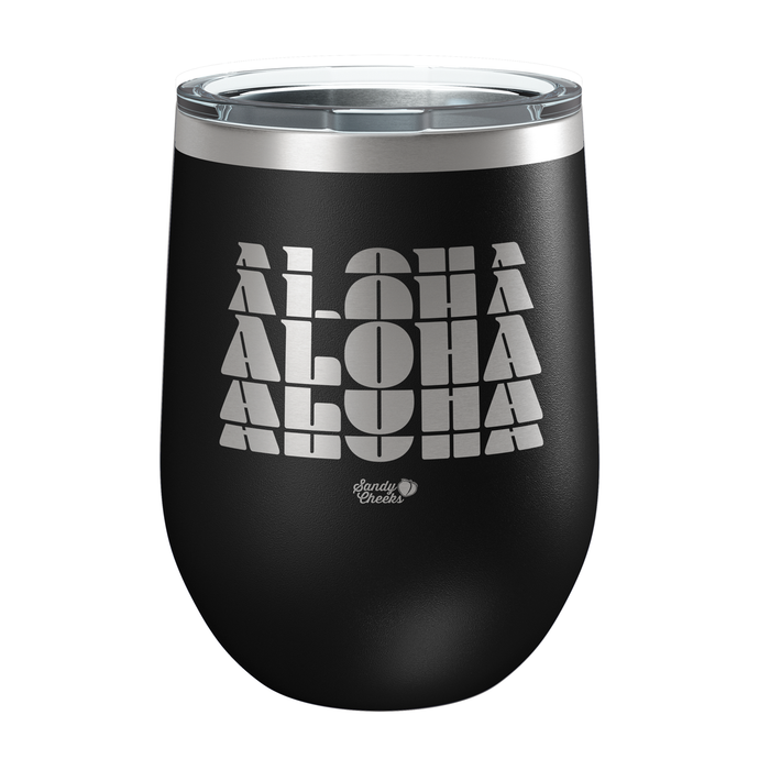 ALOHA Laser Etched Wine Cup