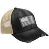 White USA Flag Hat