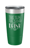 The Sun, The Sand Laser Etched Tumbler