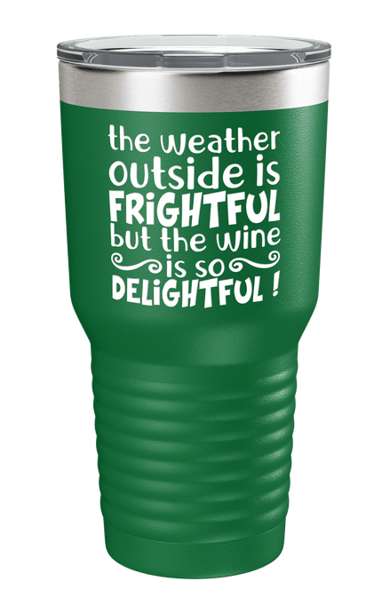 The Wine Is So Delightful Color Printed Tumbler