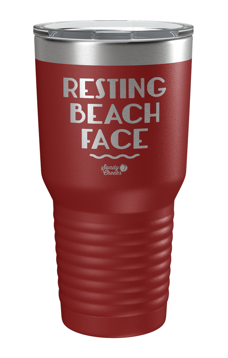 Resting Beach Face Laser Etched Tumbler