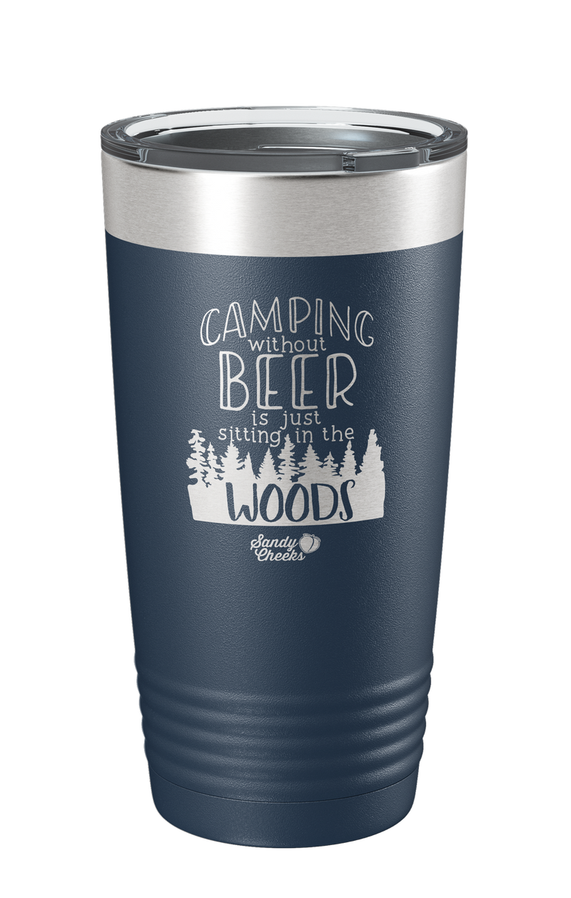 Camping Without Beer Laser Etched Tumbler