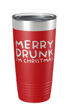 Merry Drunk I'm Christmas Laser Etched Tumbler