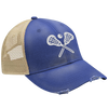 Crossed Lacrosse Sticks Hat