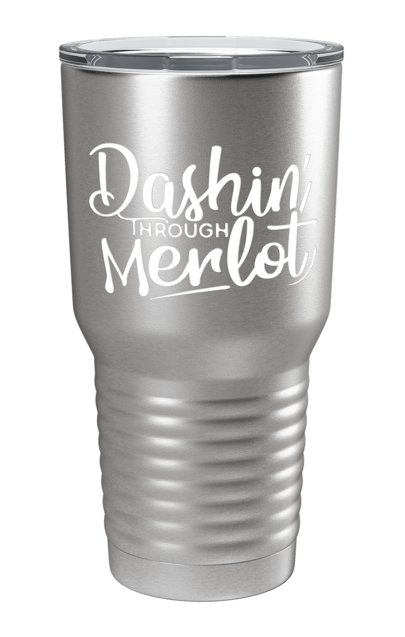 Dashin' Through Merlot Color Printed Tumbler