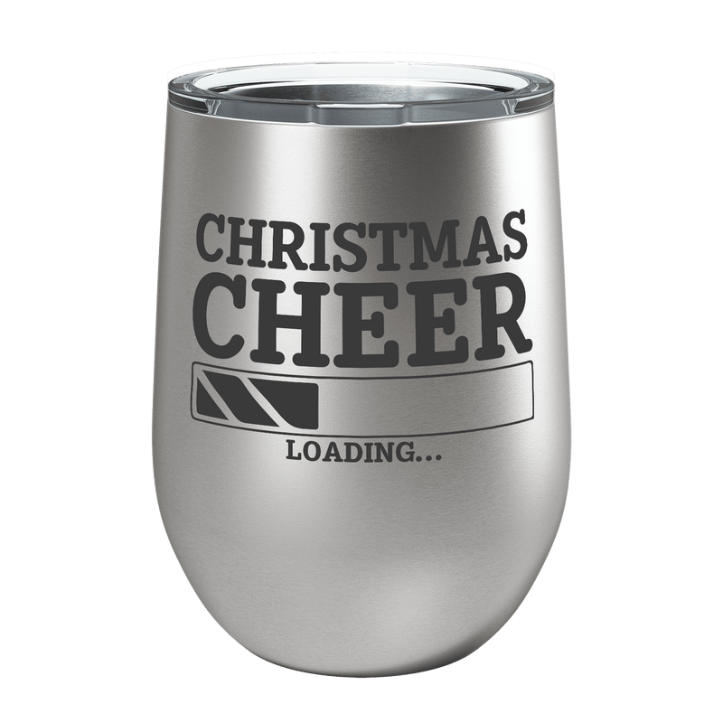 Christmas Cheer Laser Etched Wine Cup