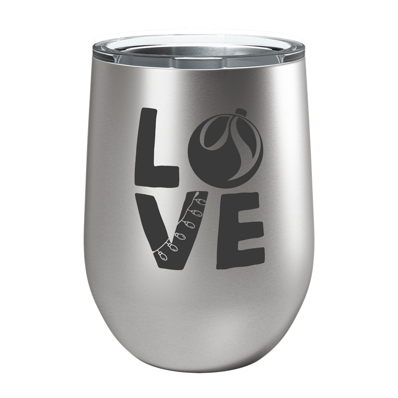 LO VE Laser Etched Wine Cup