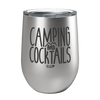 Camping and Cocktails Laser Etched Wine Cup