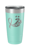 Yes You Can Breast Cancer Awareness Laser Etched Tumbler
