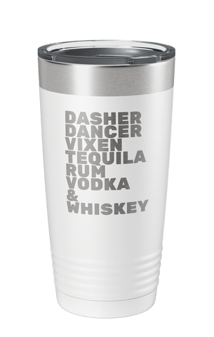 Reindeer Games Laser Etched Tumbler - Holiday Special