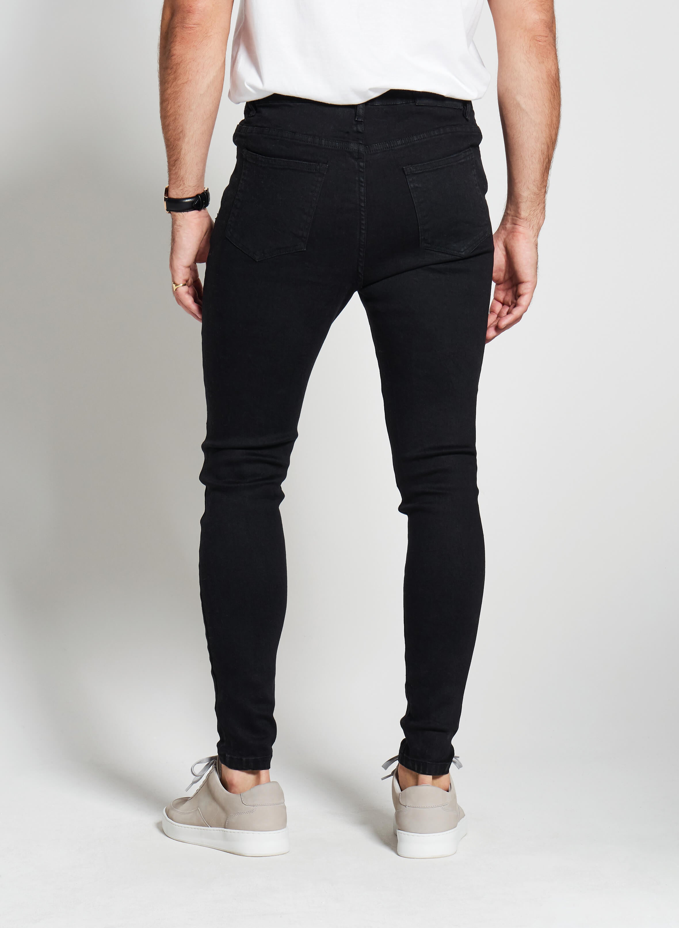 Denim Only® Spray On Jeans - Distressed Black - Spray On