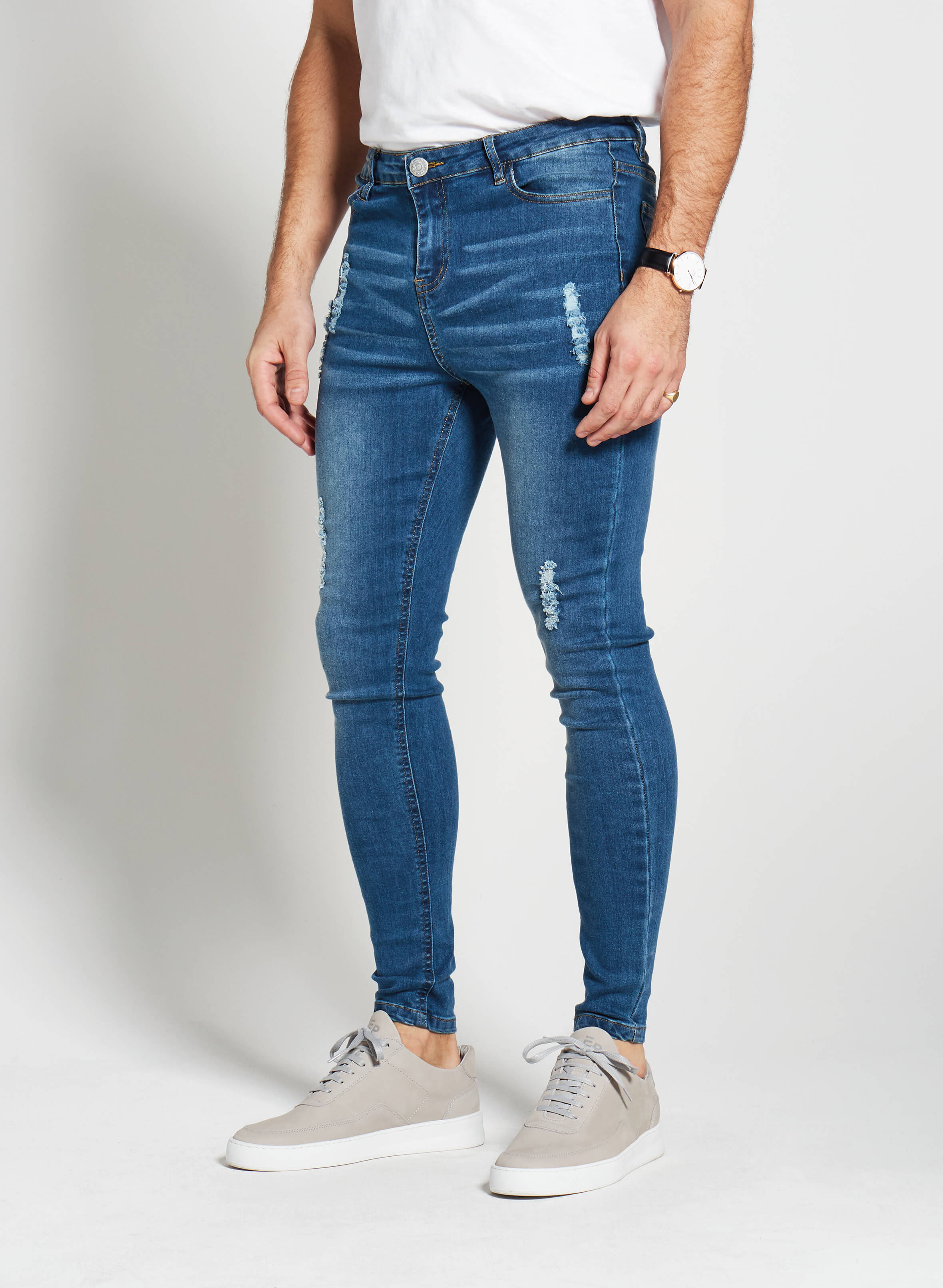 Denim Only® Spray On Jeans - Distressed Blue