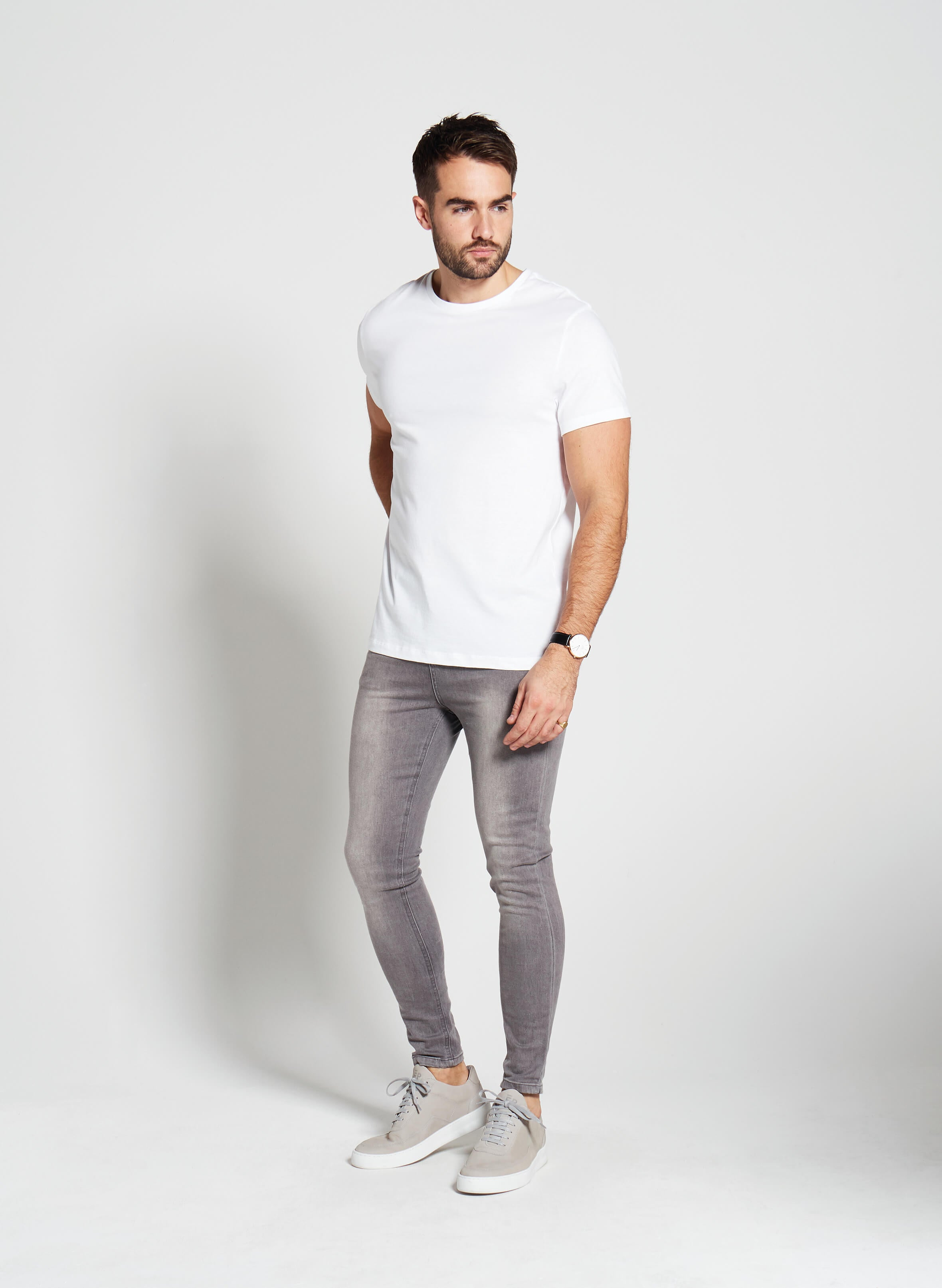 Denim Only® Spray On Jeans - Washed Grey