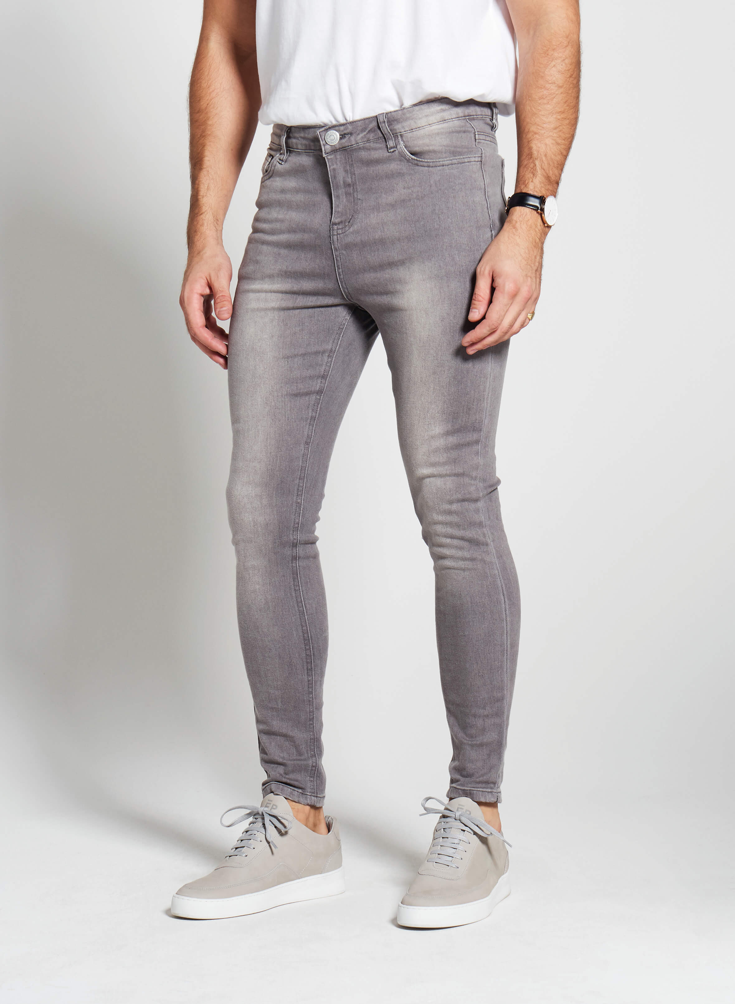 Denim Only® Spray On Jeans - Washed Grey - Spray On