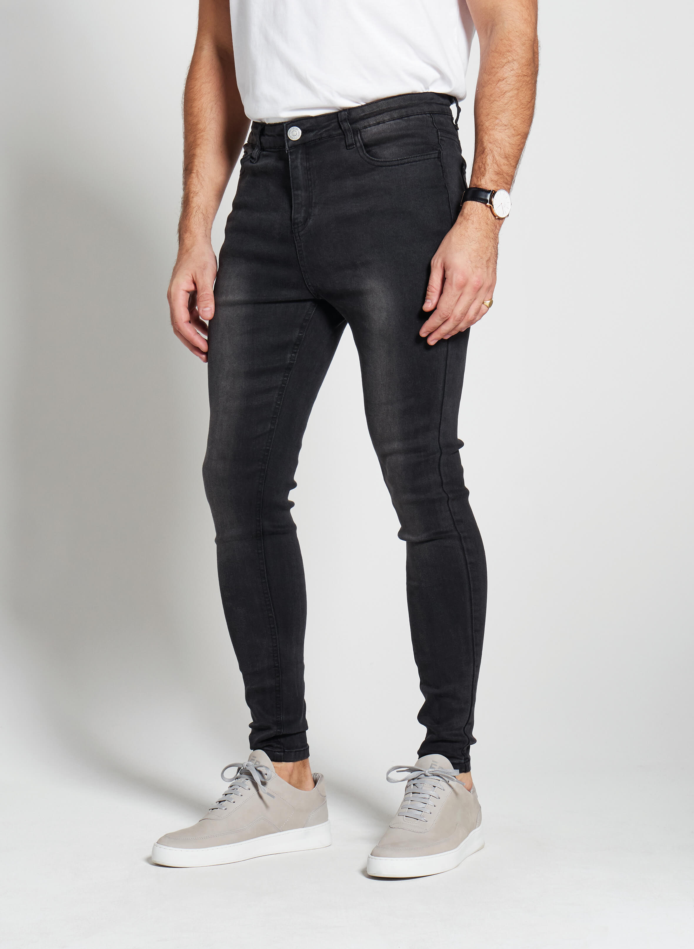 Denim Only® Spray On Jeans - Washed Black