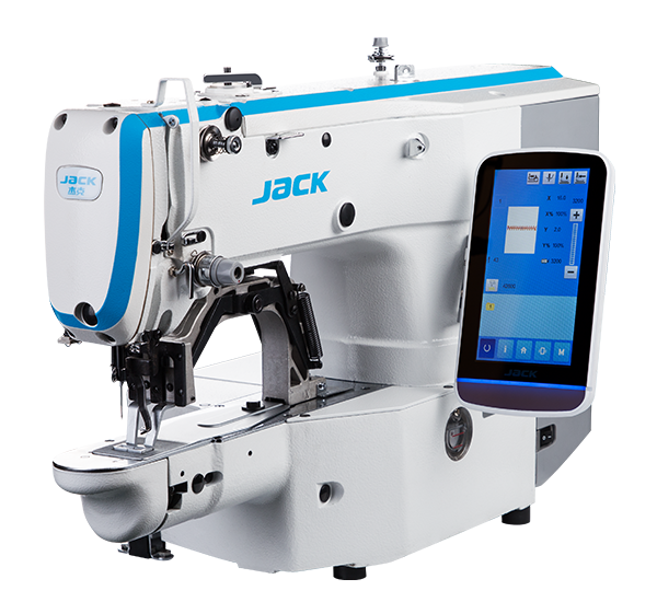 JK-T1900GLX: Computerized, Direct Drive, Automatic, Bartack/Pattern Machine (30x40mm)