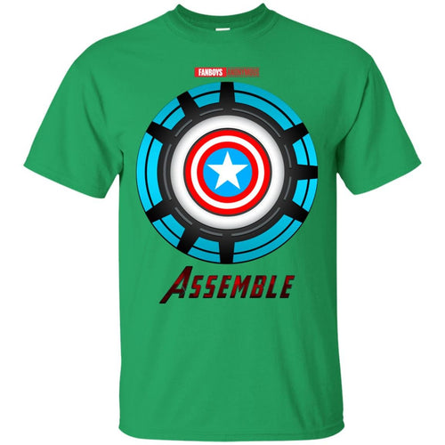 a03a21a962c Captain America Shield and Iron Man Arc Reactor T-Shirt