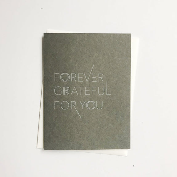 Forever Grateful A2 letterpress cards