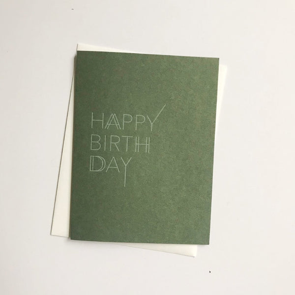 Happy Birth Day A2 letterpress cards