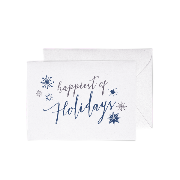 Happiest of Holidays A6 Letterpress cards