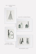 Holiday Watercolor Art Print Set