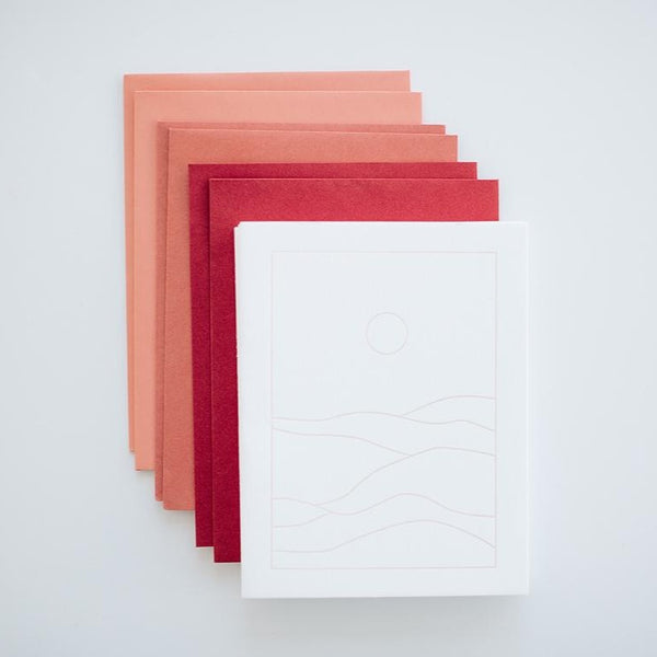 Sunset I Letterpress card pack