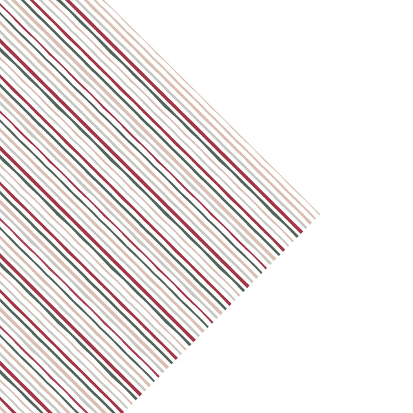 Holiday stripe gift wrap