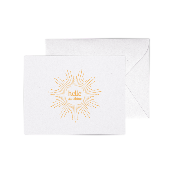 Hello Sunshine A2 letterpress cards