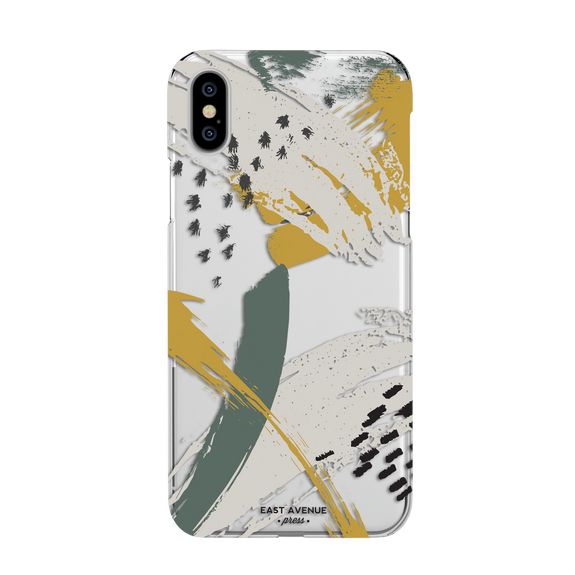 Mustard Brush Stroke iphone case