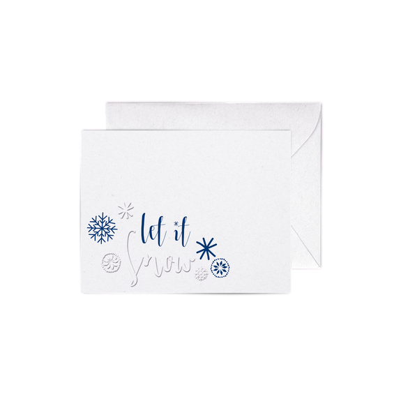 Let It Snow A2 letterpress cards