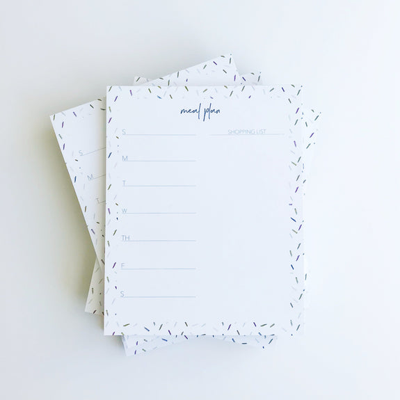 Meal Planner Weekly Calendar Notepad