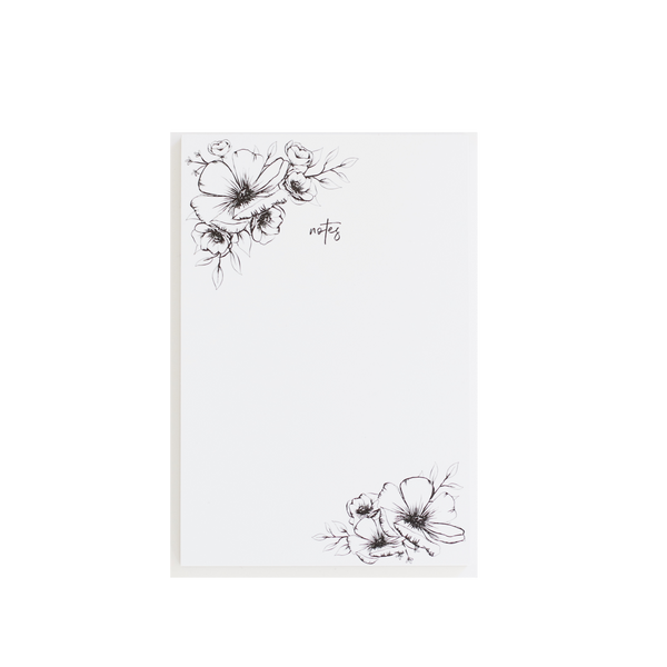 Modern Flowers notepad