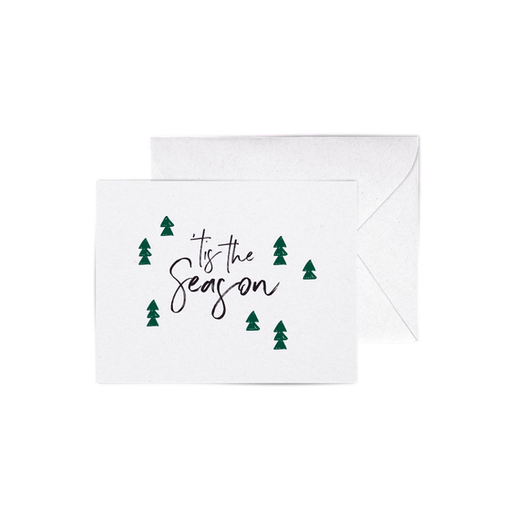 Tis The Season A2 Letterpress Cards