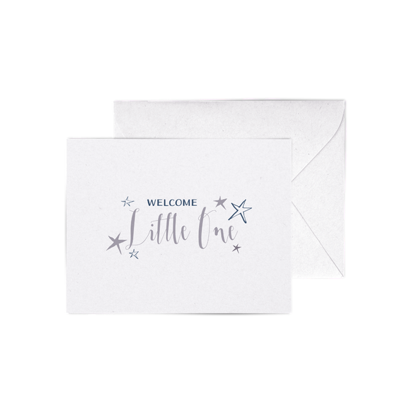 Welcome Little One A2 letterpress cards