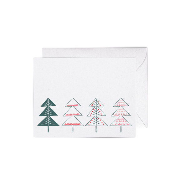 Chritmas Trees A2 Letterpress Cards