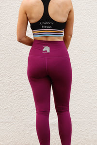 Plum Bum High Waisted Unicorn Nexus Tights