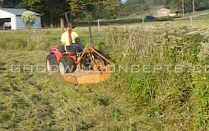 Mowing Stream Banks with an Antonio Carraro Tractor