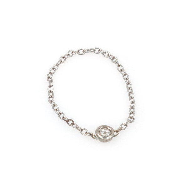 Diamond Whisper Chain Ring - LoveAudryRose.com