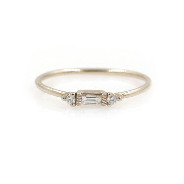 Grand Baguette Double Diamond Ring