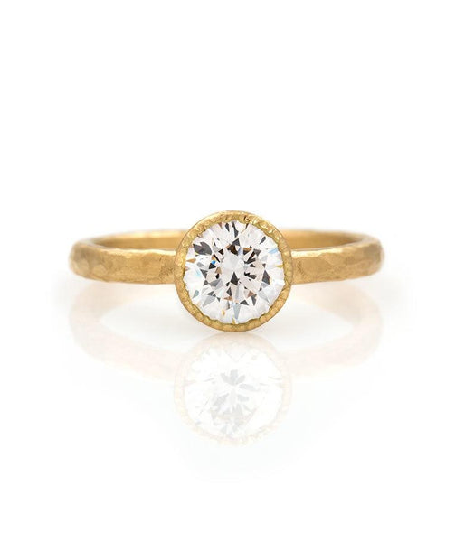18k Bezel set 1 Carat Diamond Ring