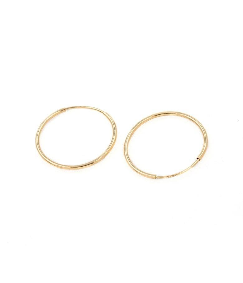 22mm Golden Hoop Earrings - LoveAudryRose.com