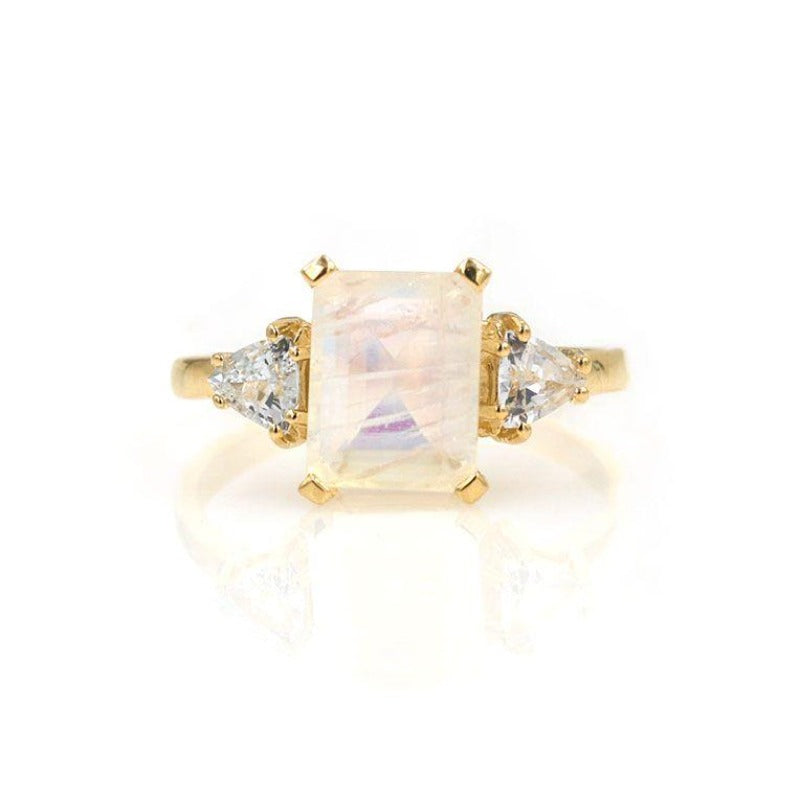 Moonstone Sapphire Muse Ring