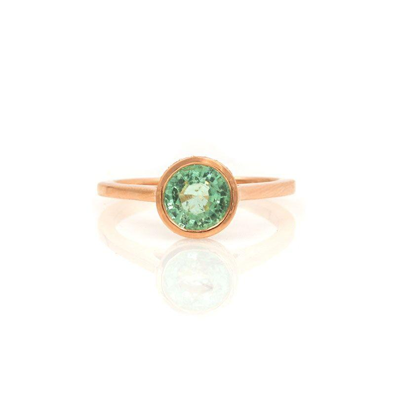 Green Tourmaline Secret Garden Ring